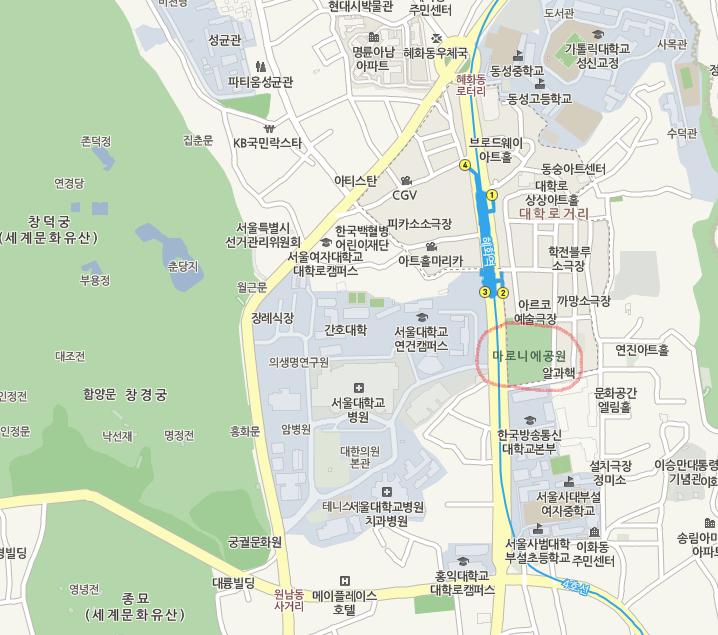 парк Марониэ карта